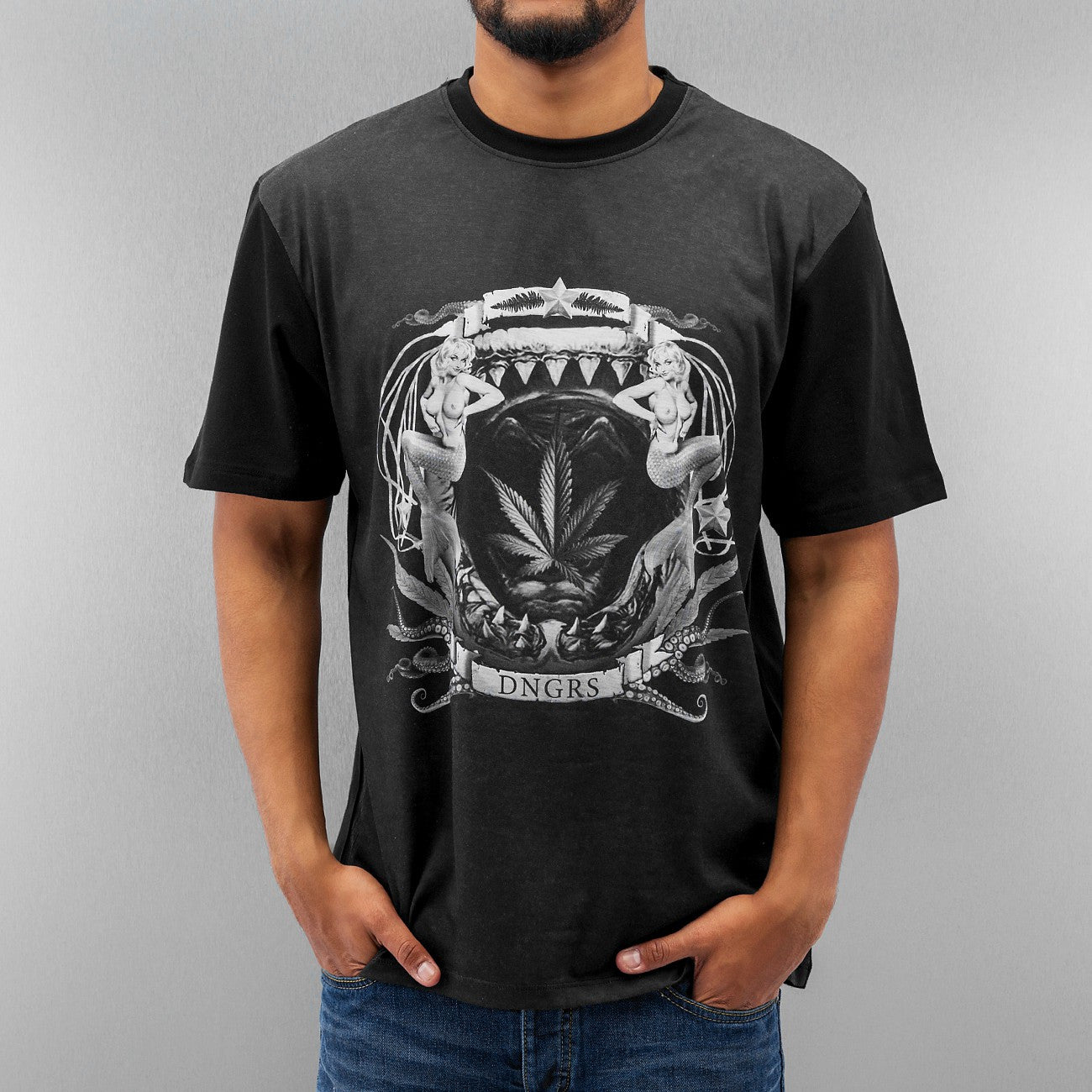 Dangerous DNGRS Drugs T-Shirt  Black