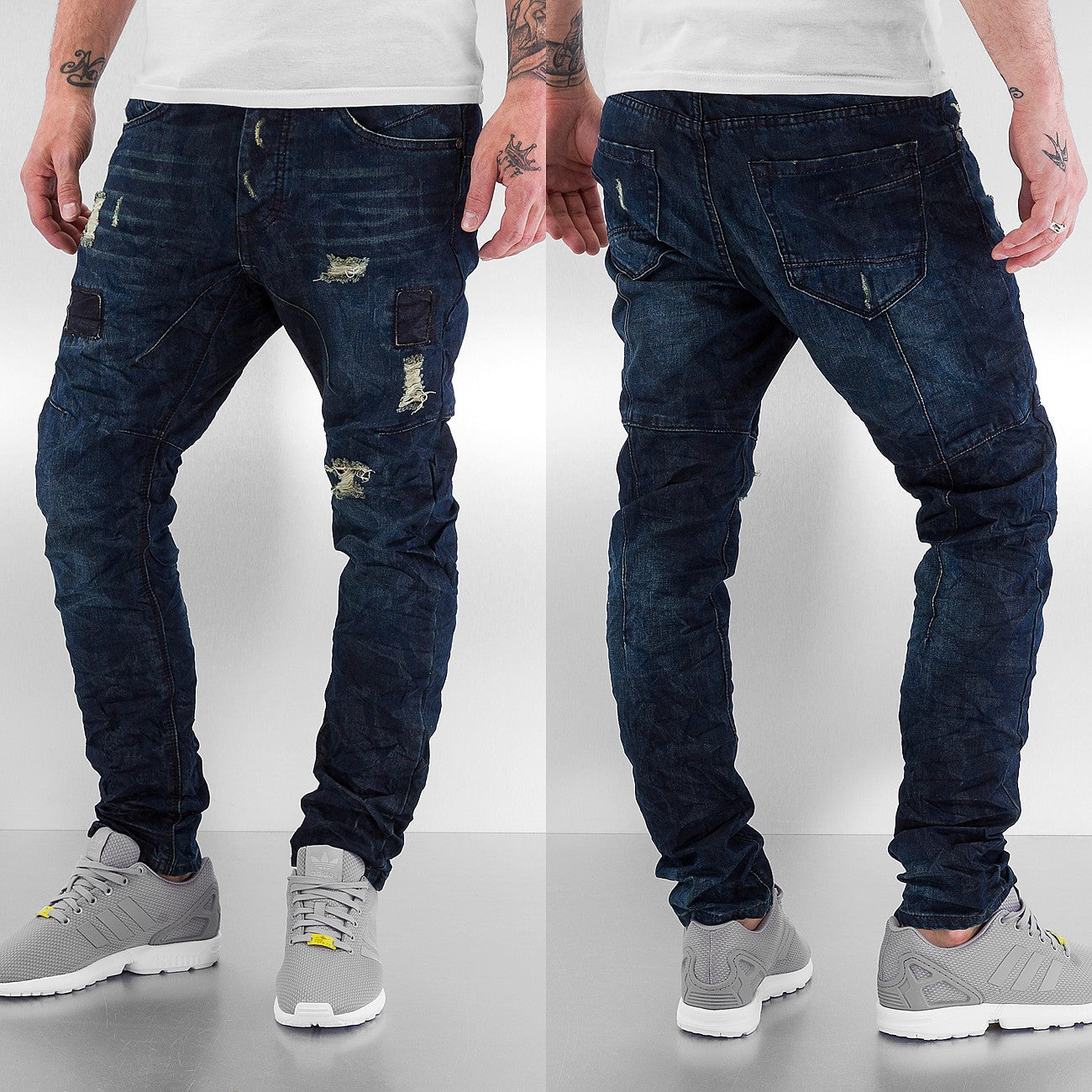 Just Rhyse Camo Antifit Jeans  Blue