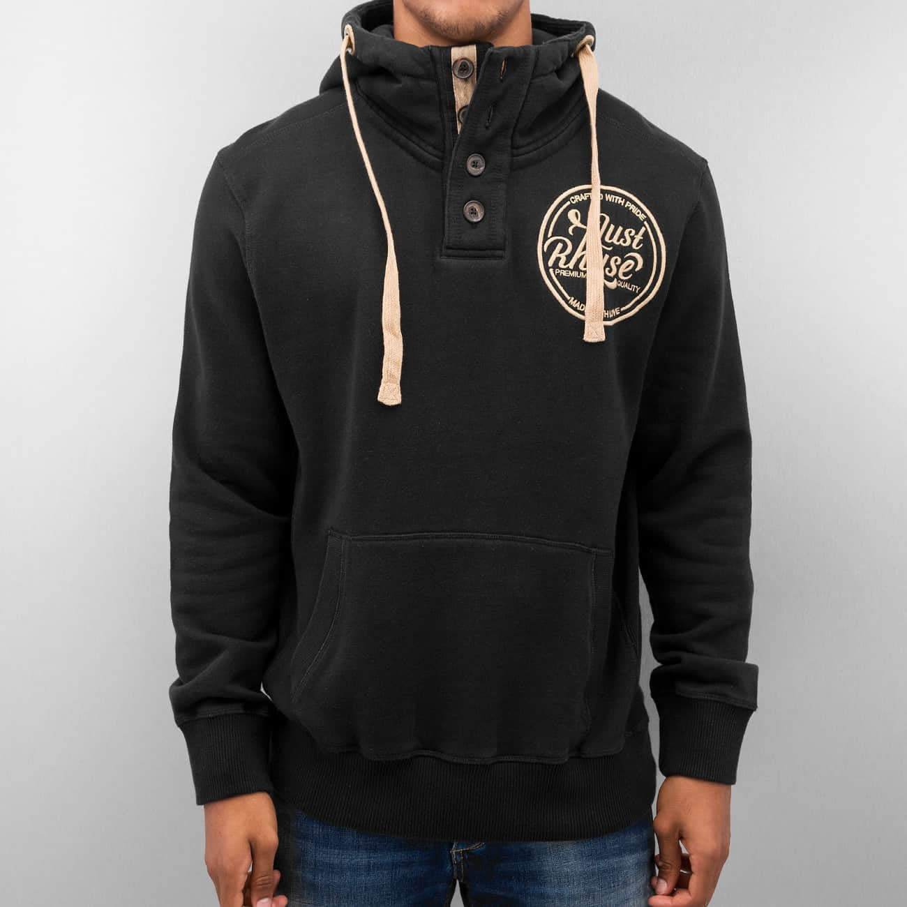 Just Rhyse Big Hoody  Black