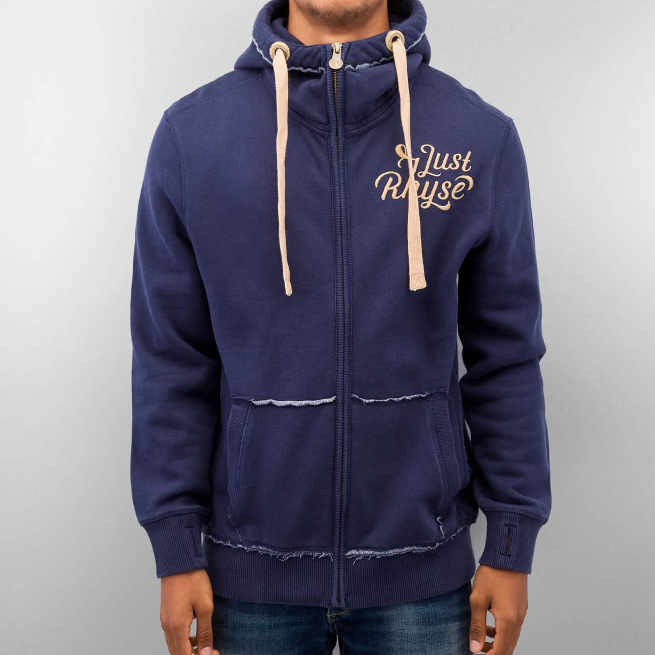 Just Rhyse Big Zip Hoody  Blue
