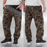 Just Rhyse Diagonal Sweat Pants  Camo