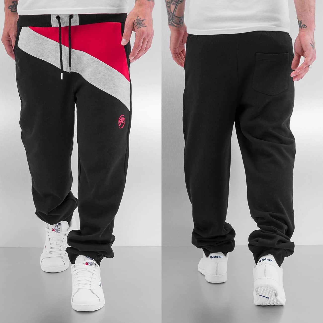 Just Rhyse Diagonal Sweat Pants  Red