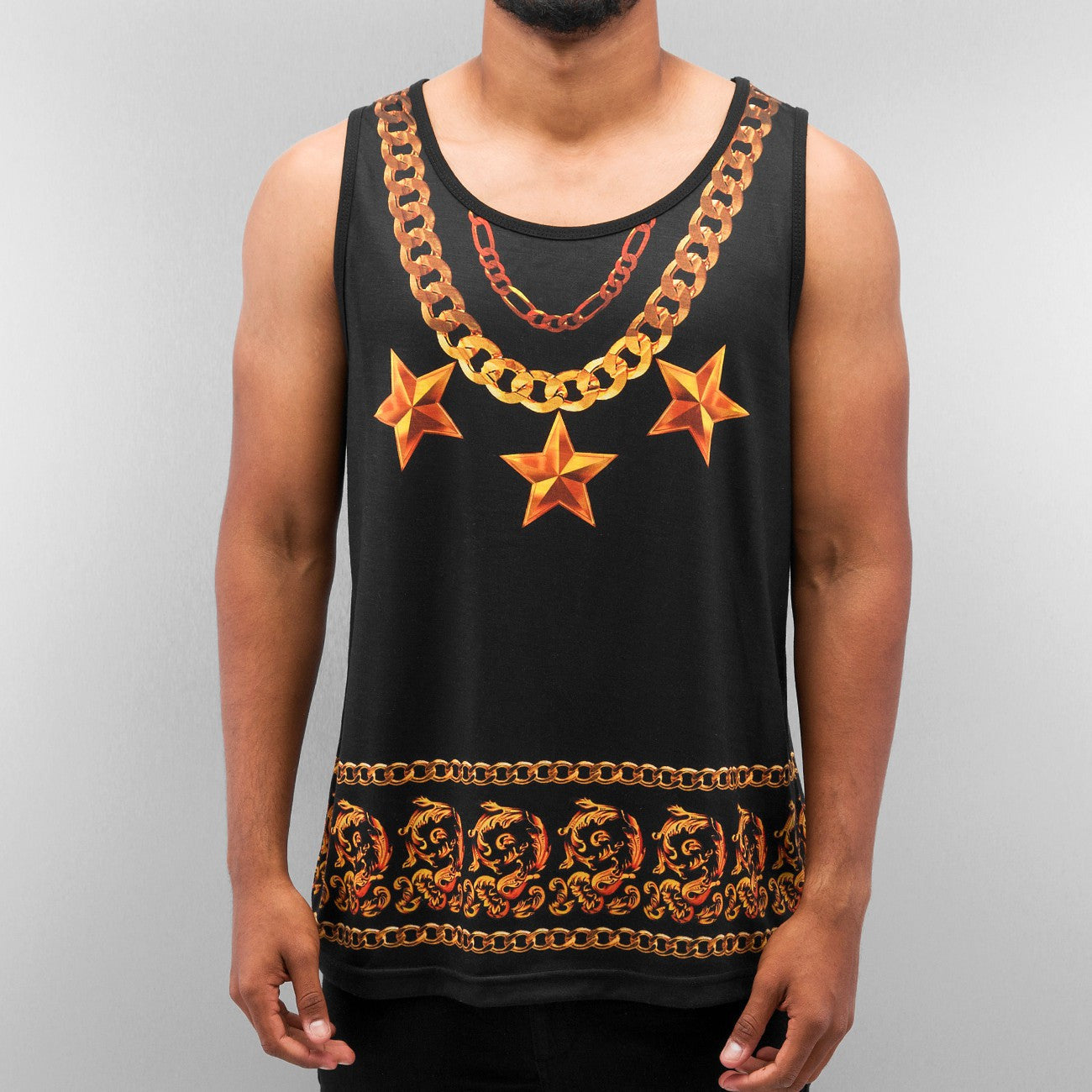 Bangastic Chain Tank Top  Black