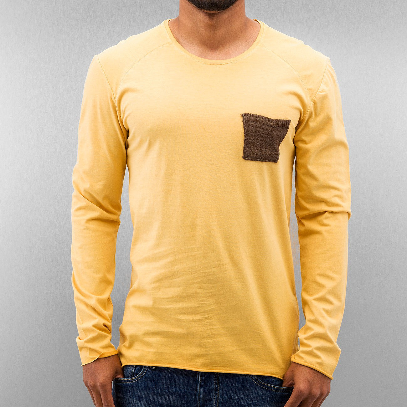 Just Rhyse Breast Pocket Longsleeve  Yellow