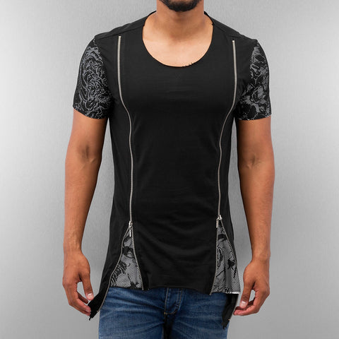 Bangastic Zipper T-Shirt  Black