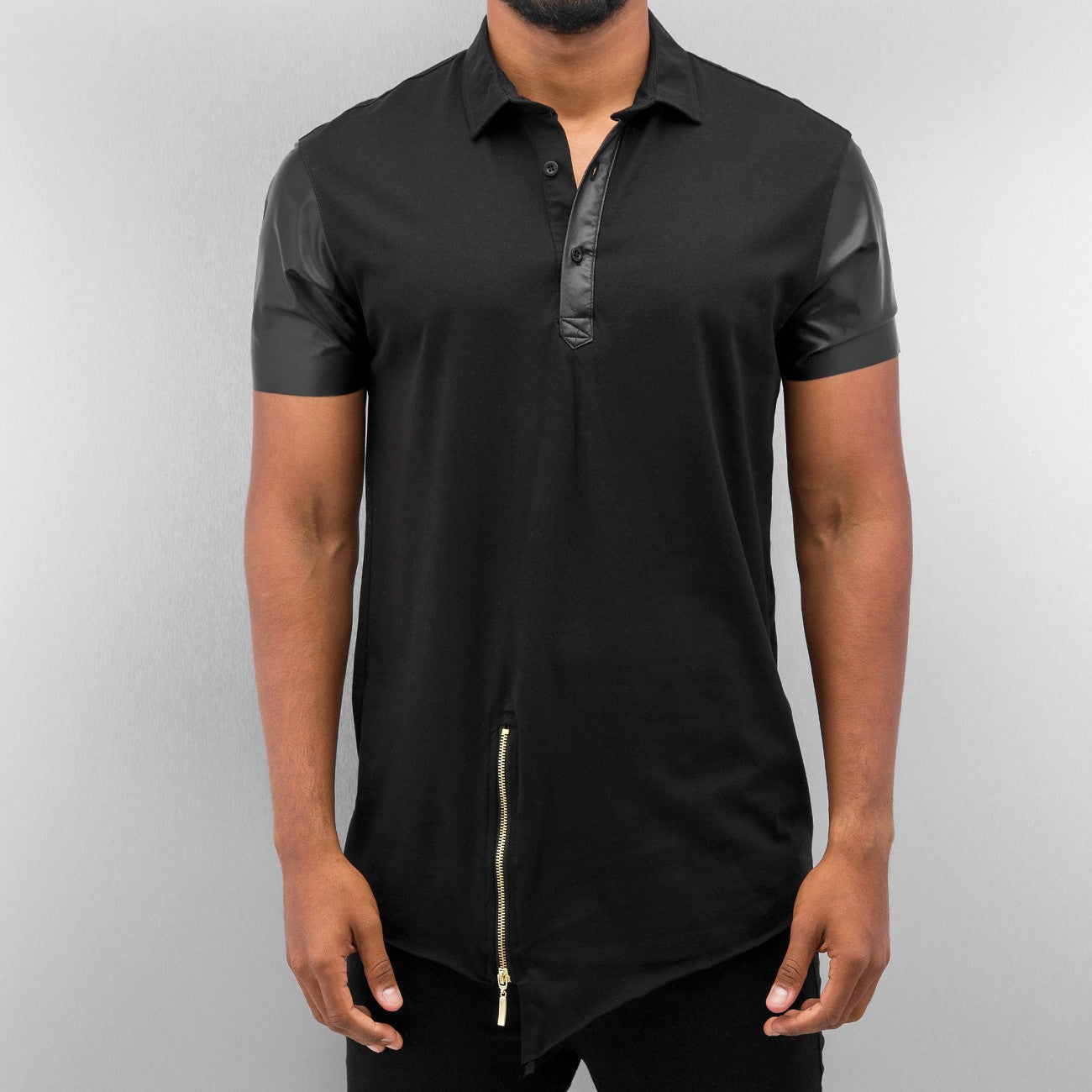 Bangastic PU Polo Shirt  Black