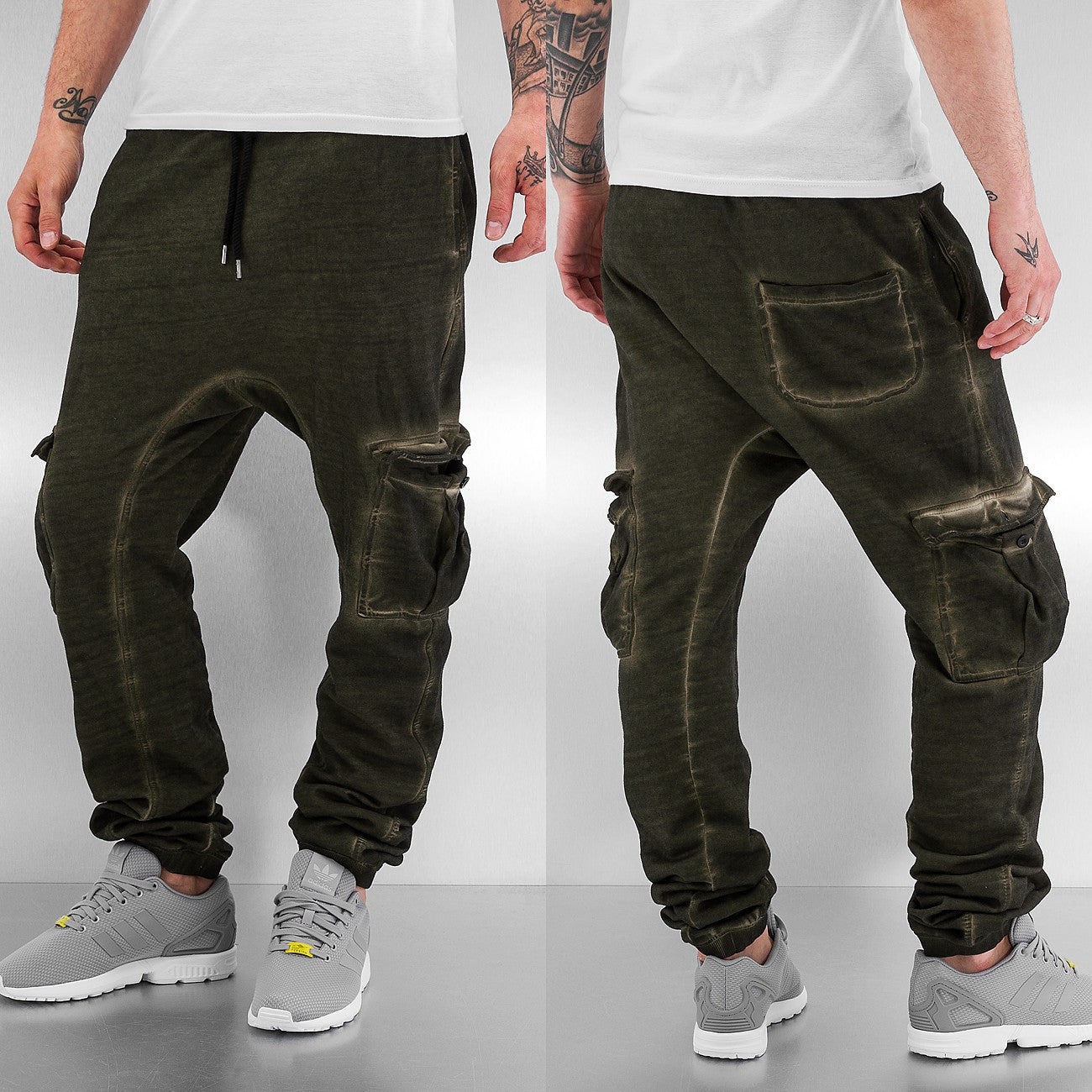 Dangerous DNGRS Cargo Sweat Pants  Green