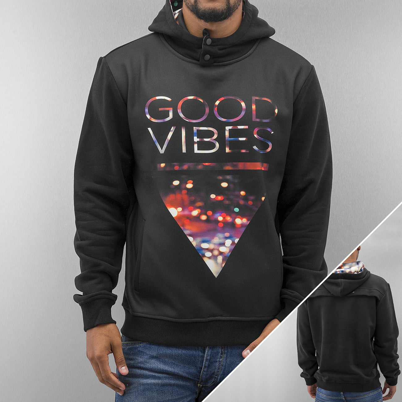 Just Rhyse Good Vibes Hoody  Black