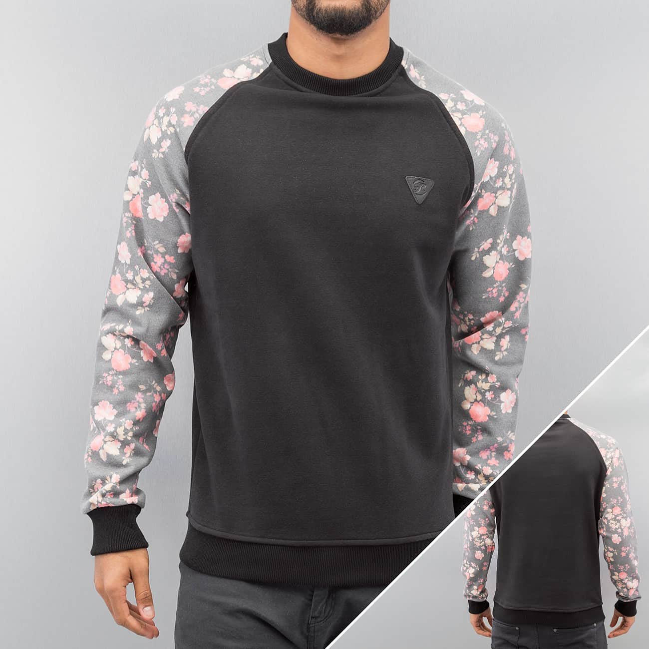 Just Rhyse Flower Sweater  Black