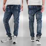 Bangastic Waistband Straight Fit Jeans  Blue