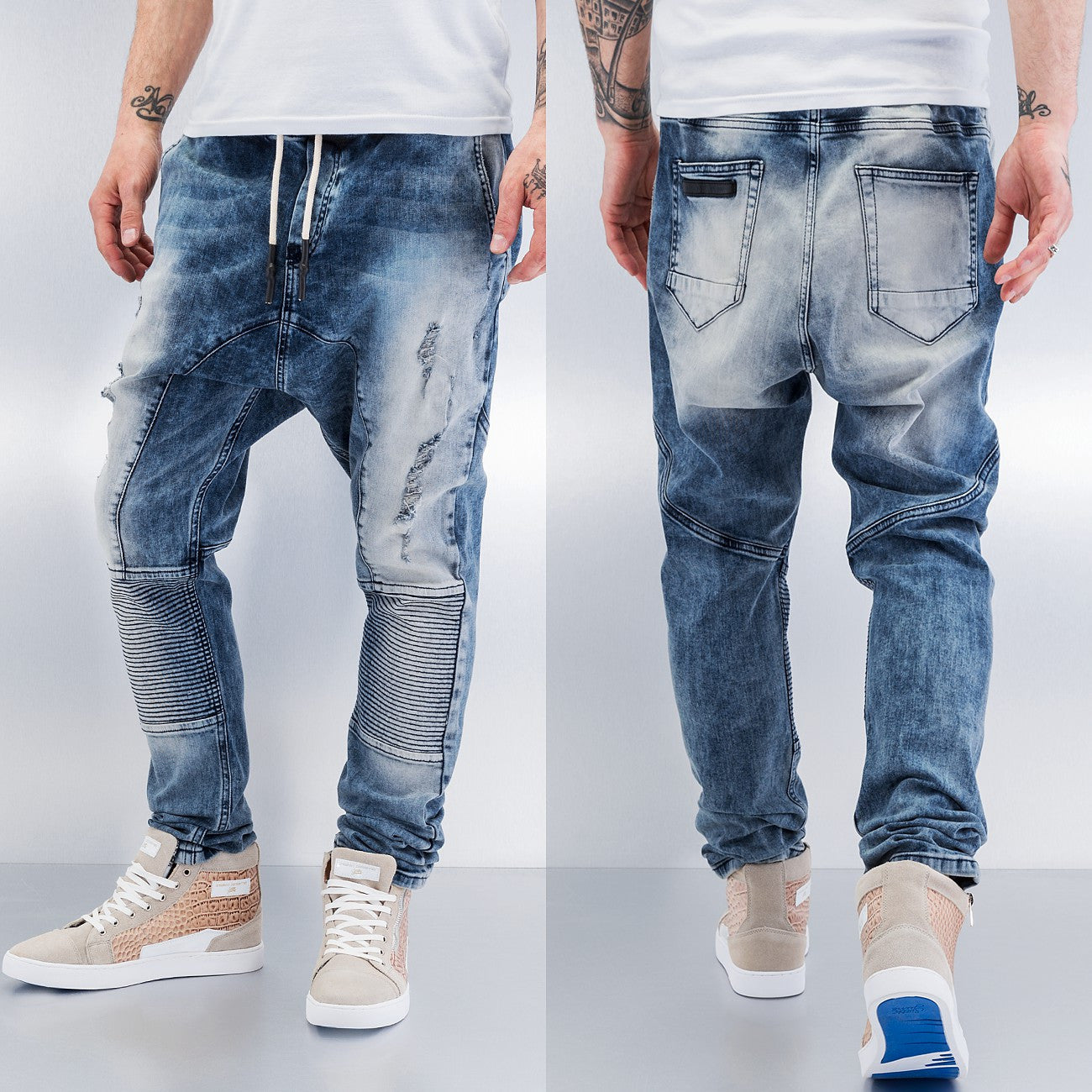 Bangastic Waistband Antifit Jeans  Blue