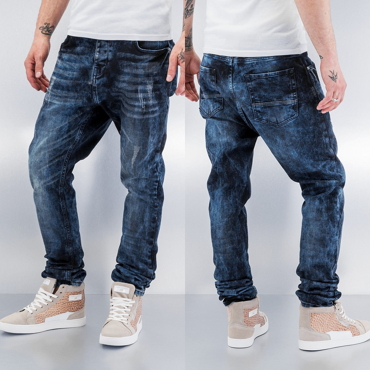 Bangastic Shiro Straight Fit Jeans  Blue