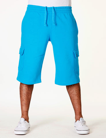Basic Fleece Cargo Shorts RBB-3001S Aqua