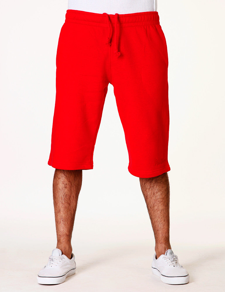 Basic Fleece Sign Shorts RBB-3000 Red