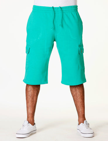 Basic Fleece Cargo Shorts RBB-3001S Lime green