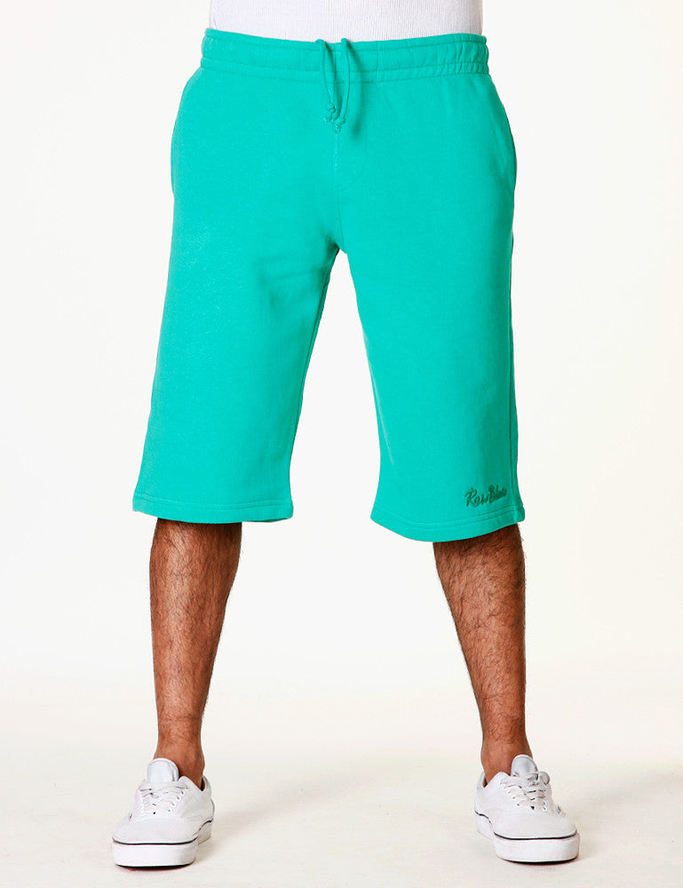 Basic Fleece Sign Shorts RBB-3000 Lime green