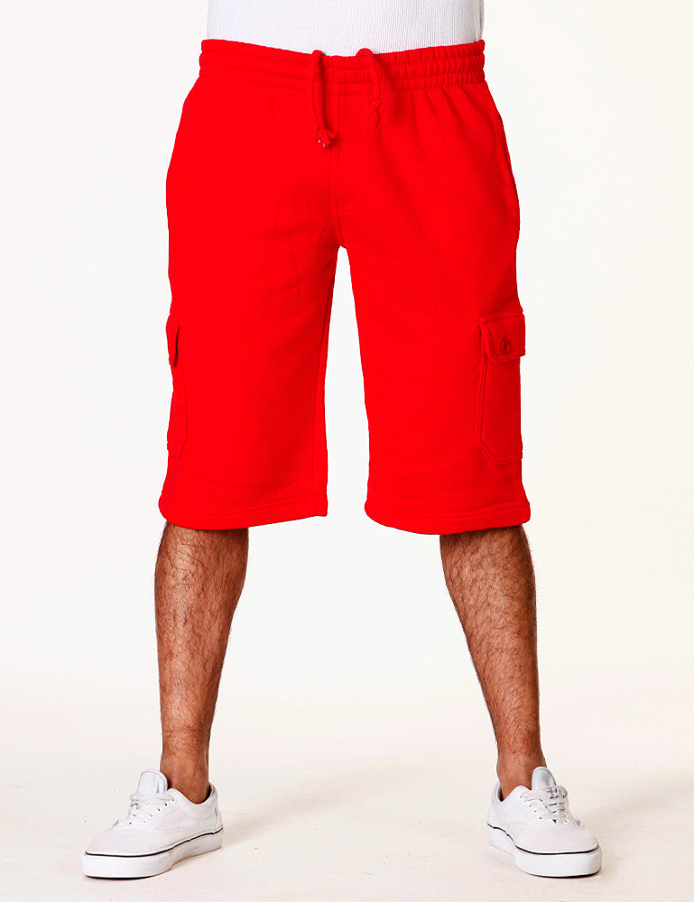 Basic Fleece Cargo Shorts RBB-3001S Red