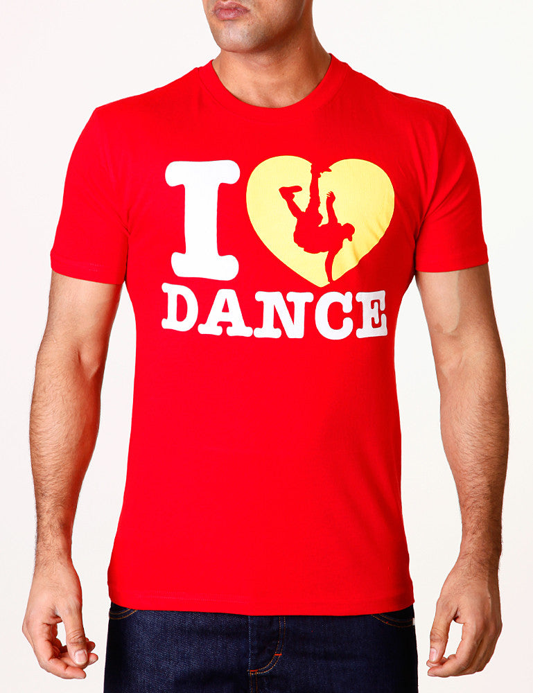 I Love Dance Tee Red