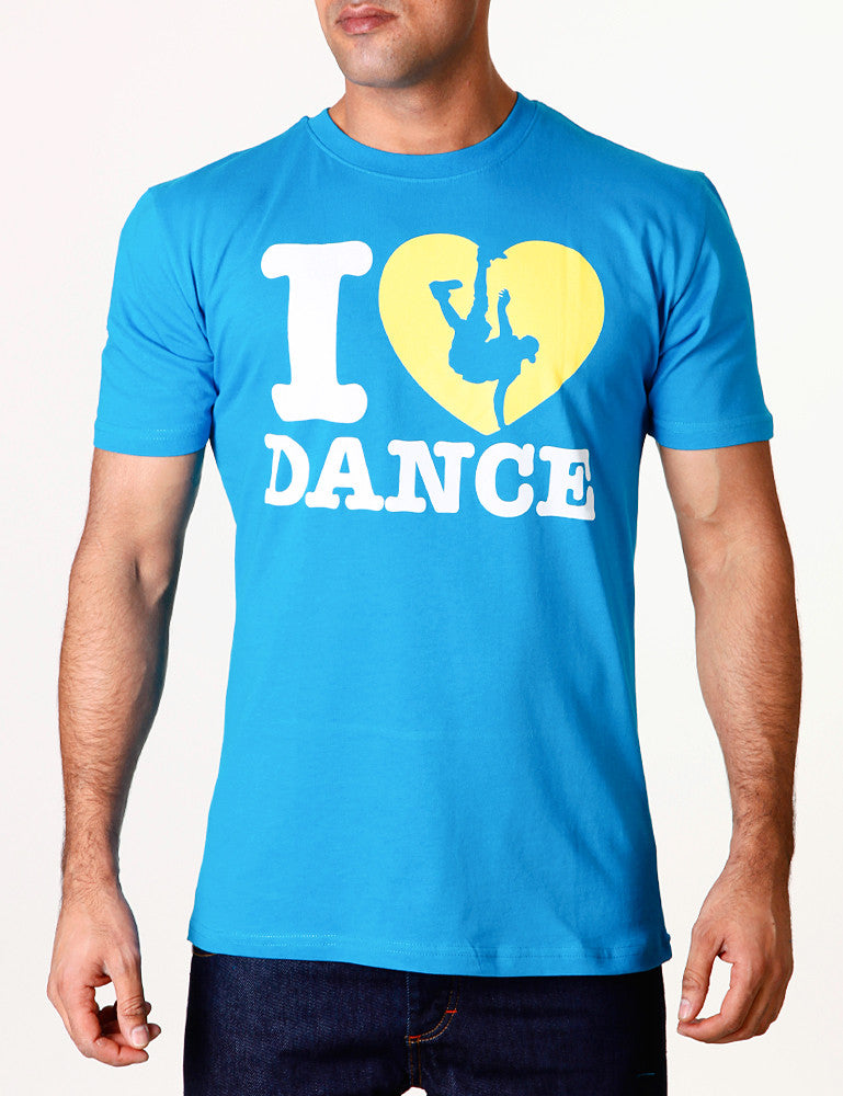 I Love Dance Tee Blue