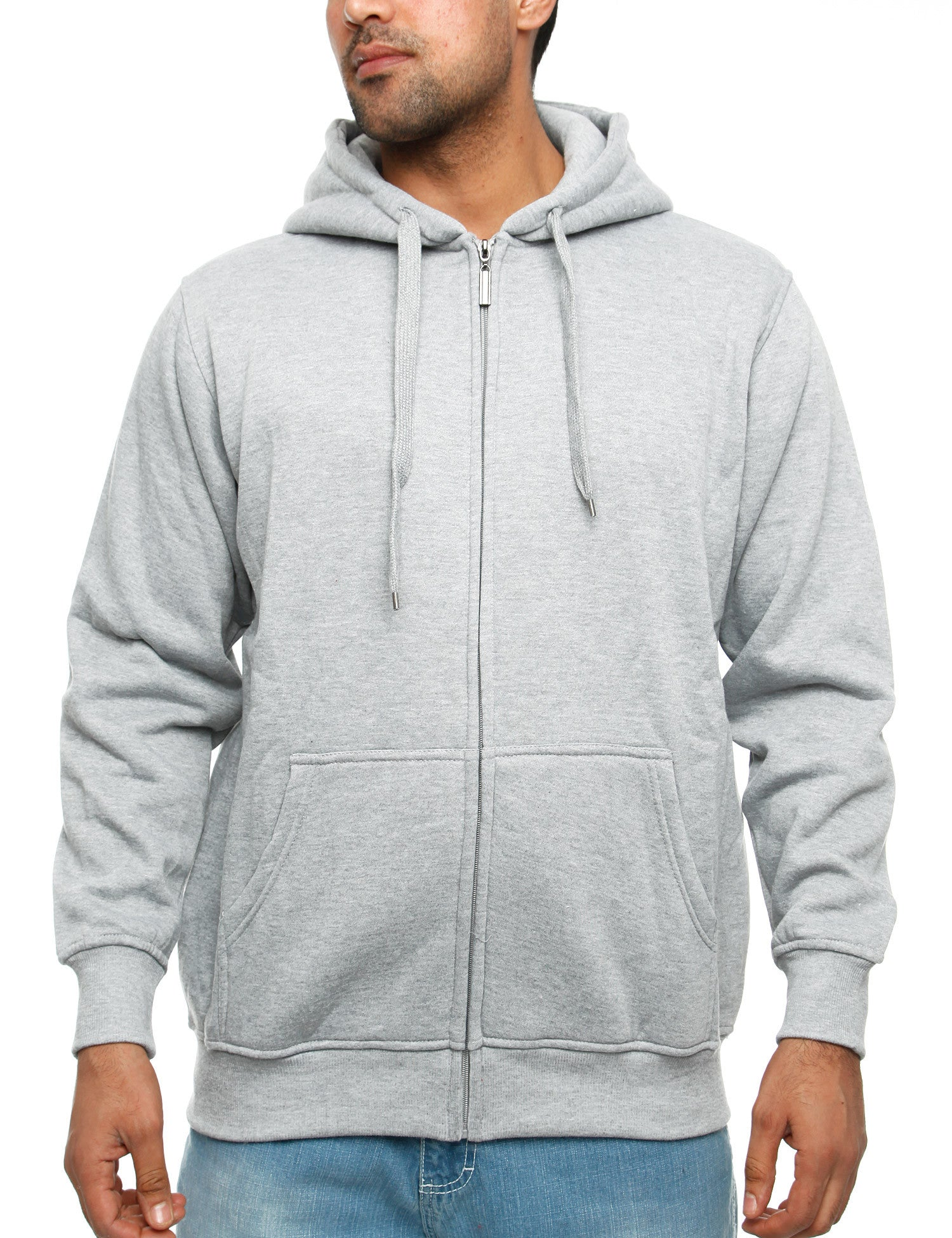 Townz Zip Hoody PS-033B Grey