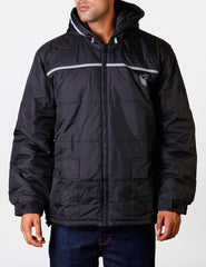 WARM UP Men Poly Jacket Black