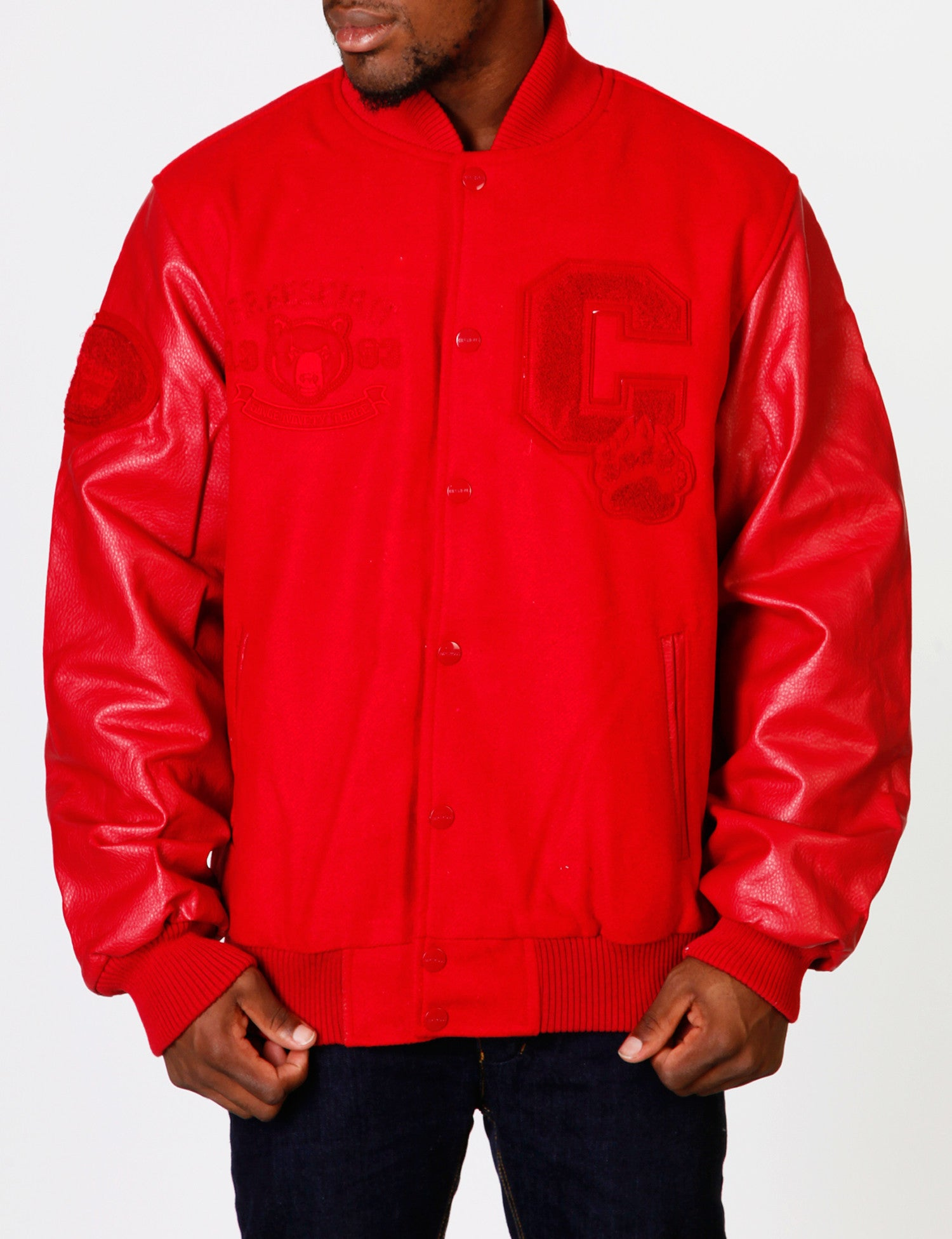 Mens Wool Jacket Red
