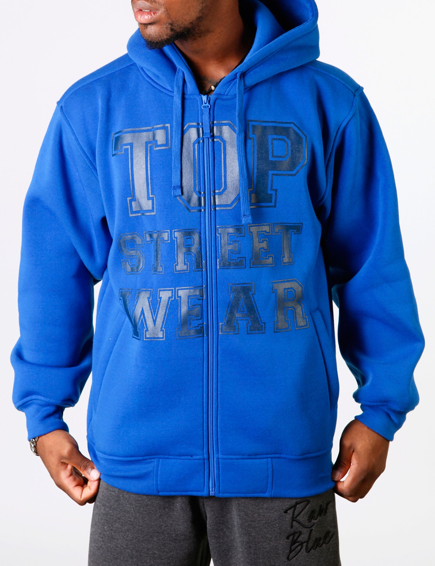 TSW Fleece Zip Hood YLD-2578 Blue