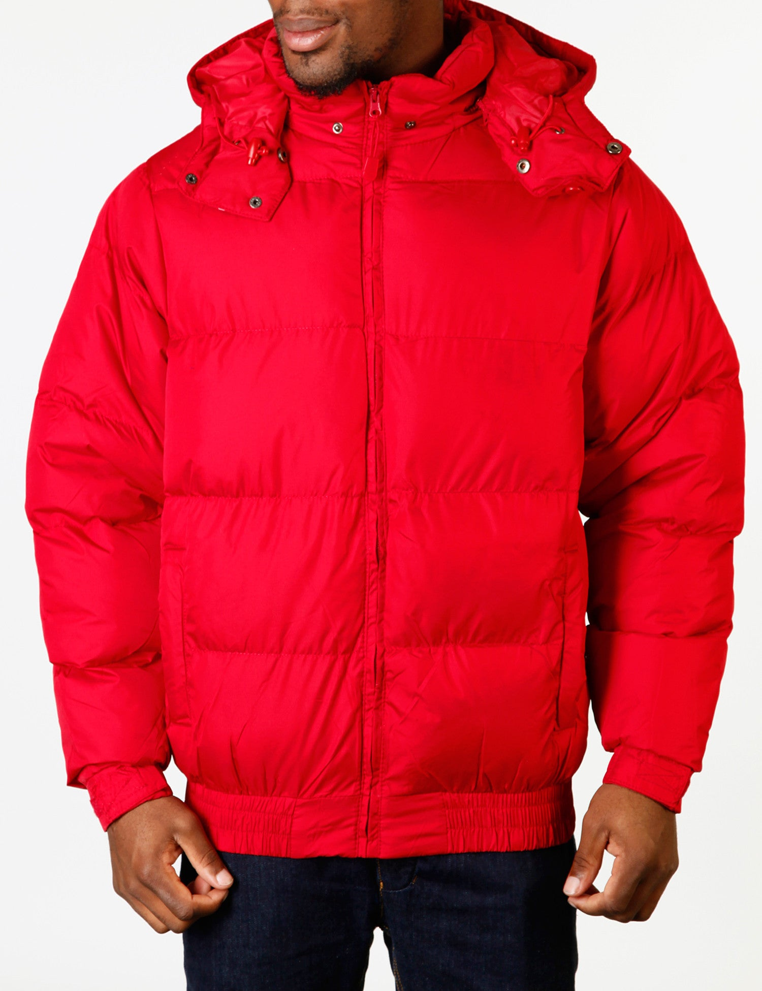 Mens Bubble Jacket Red