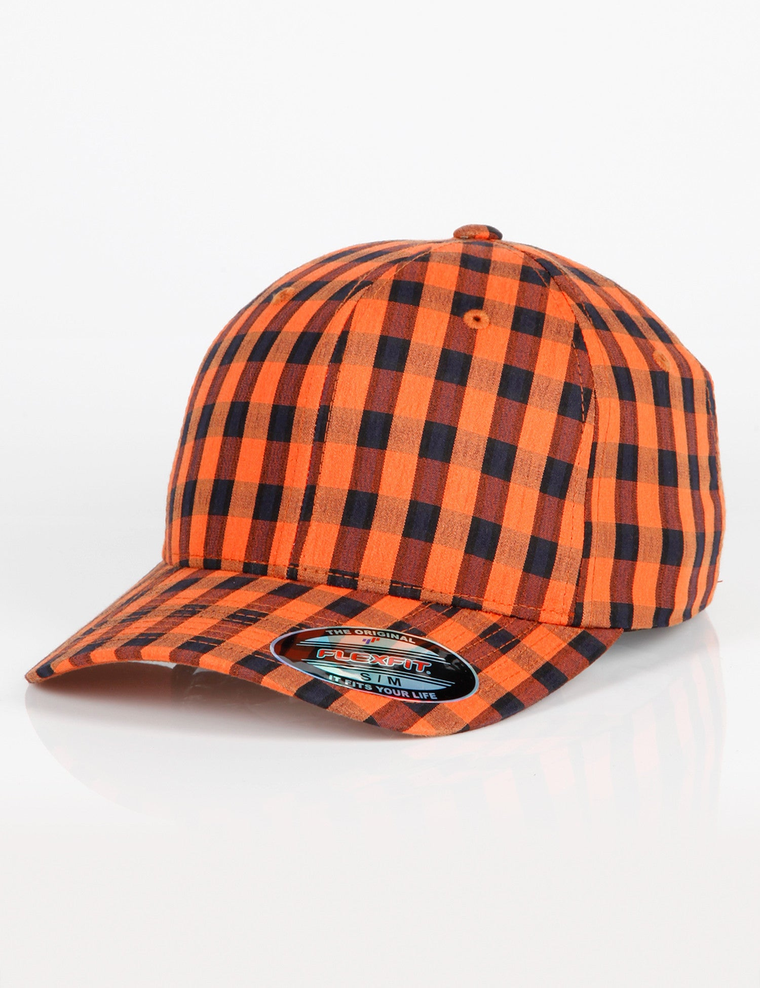 FF Flexfit Plaid Cap Orange