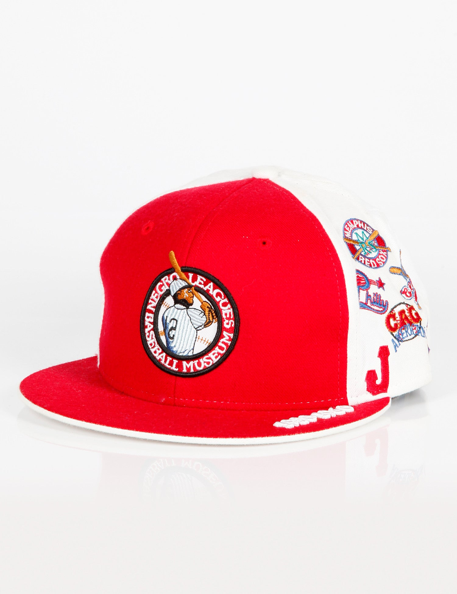 Negro League All Over Team Cap Red