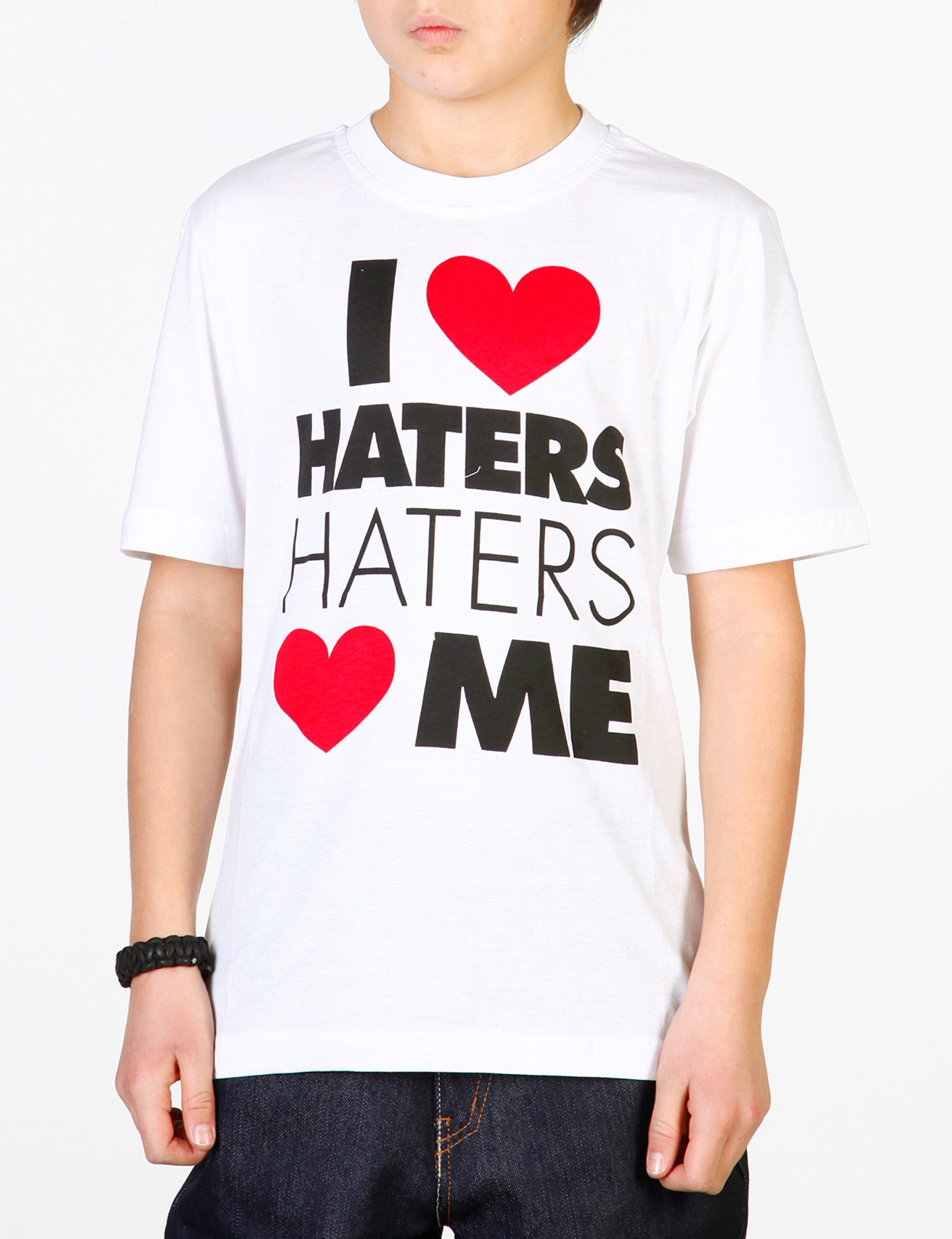 Kids I Love Haters Tee White