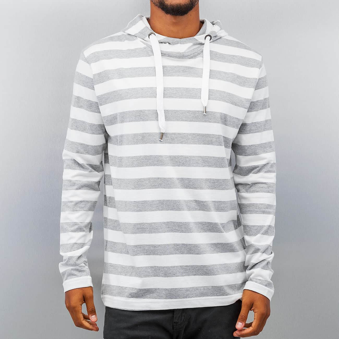 Just Rhyse Stripes Hoody  White