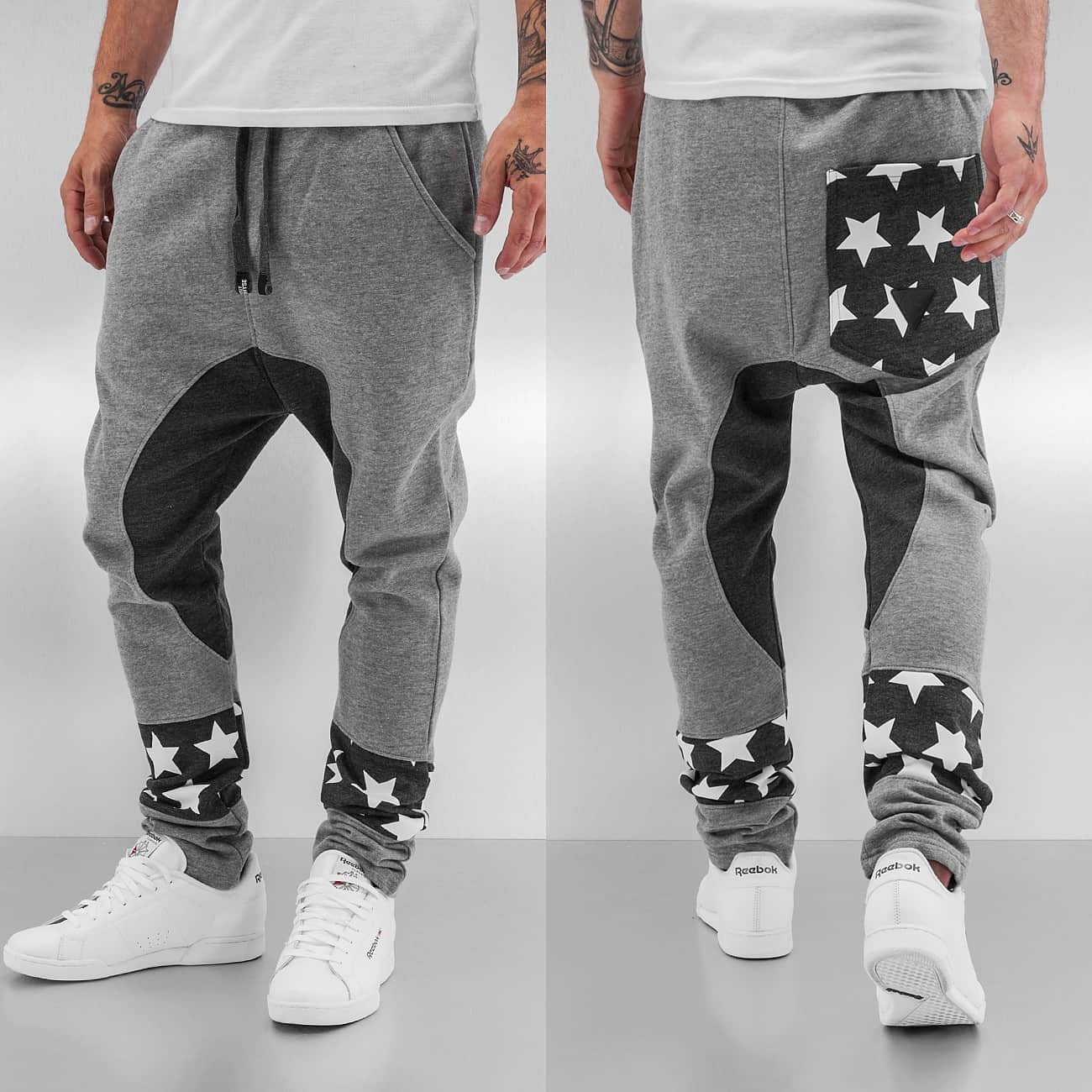 Just Rhyse Stars II  Sweat Pants  Grey