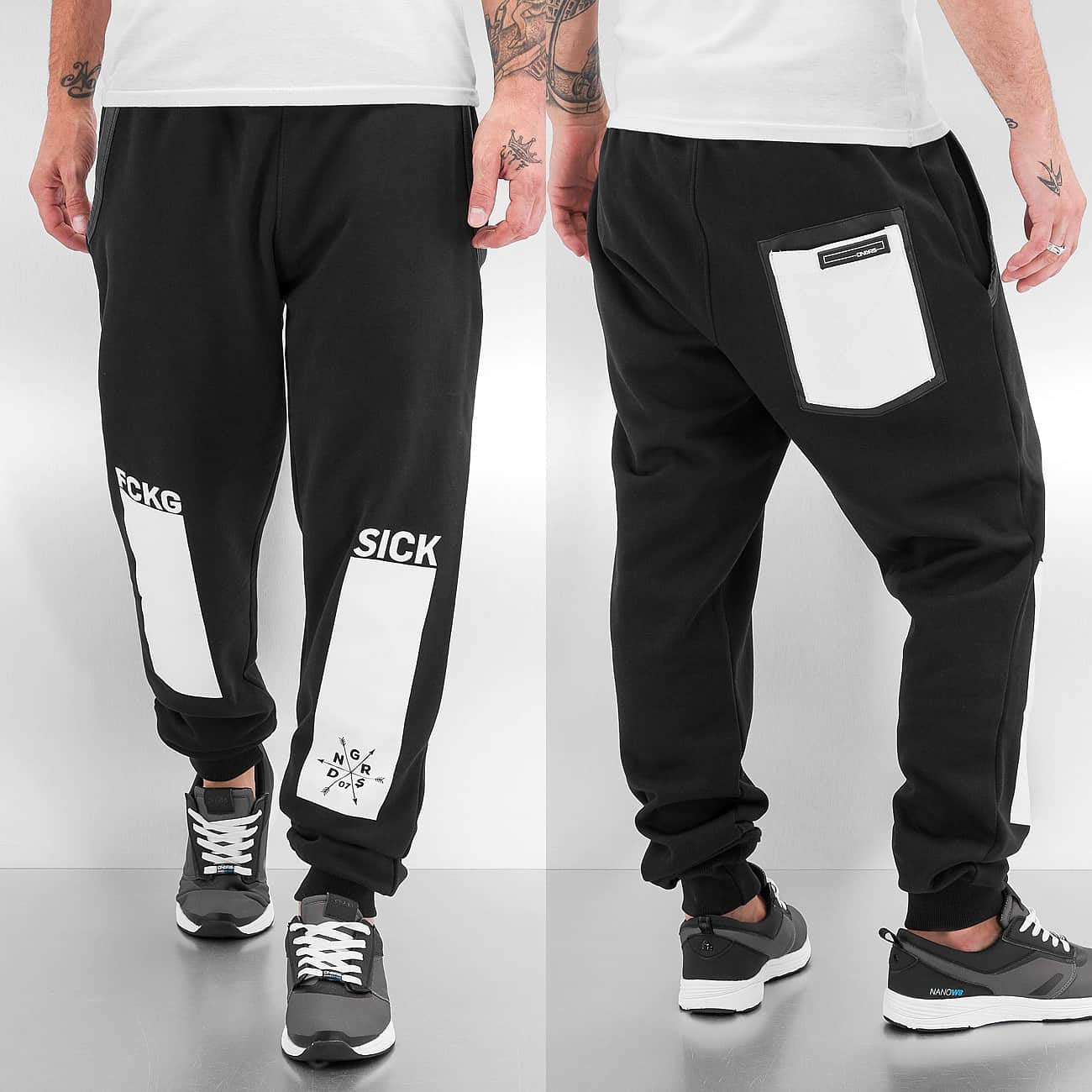 Dangerous DNGRS FCKG Sweat Pants  Black