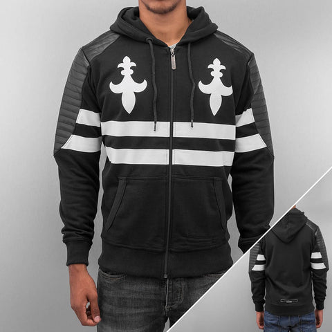 Dangerous DNGRS PU Leather Zip Hoody  Black