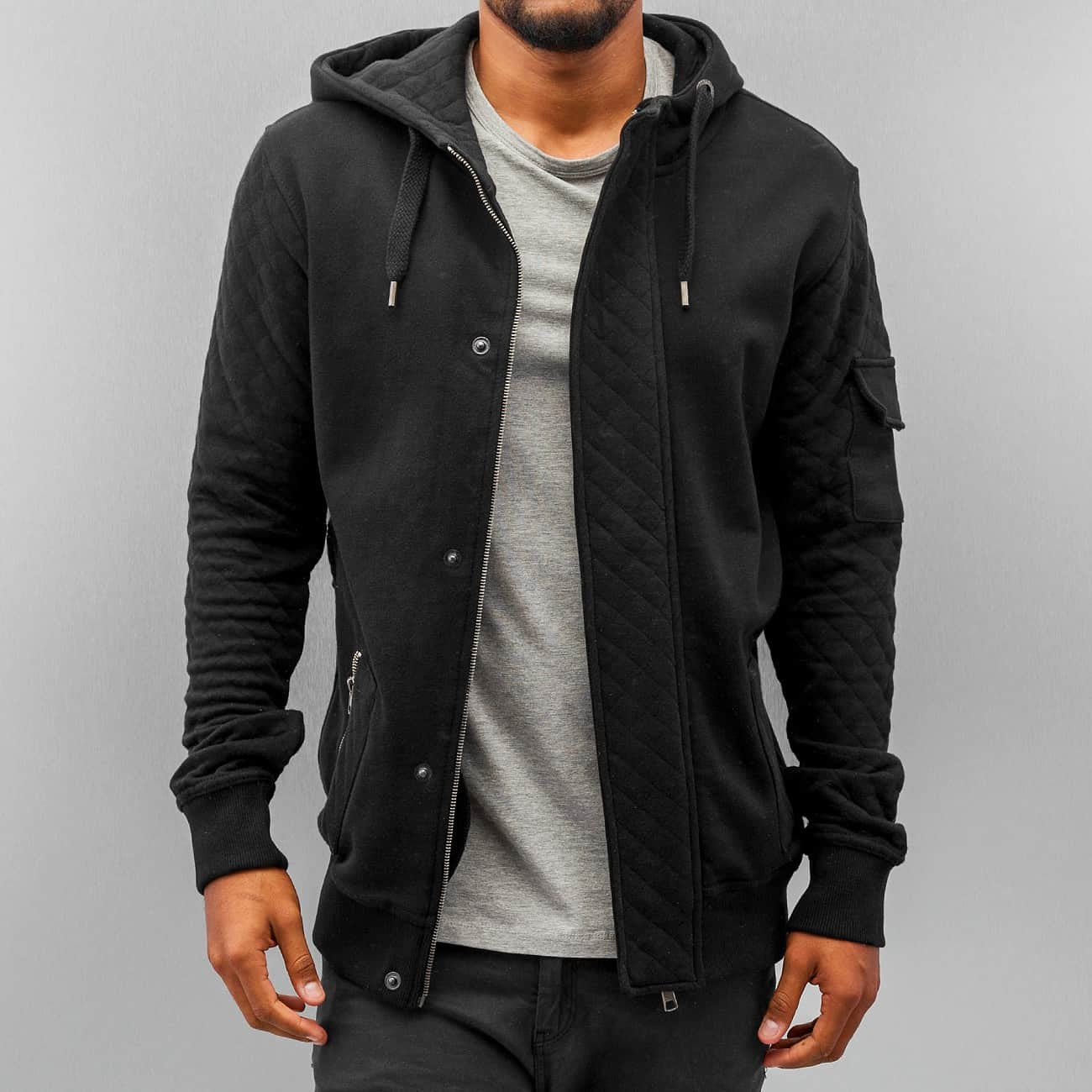 Just Rhyse Step Zip Hoody  Black