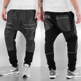 Bangastic Zip Leather Sweat Pants  Black