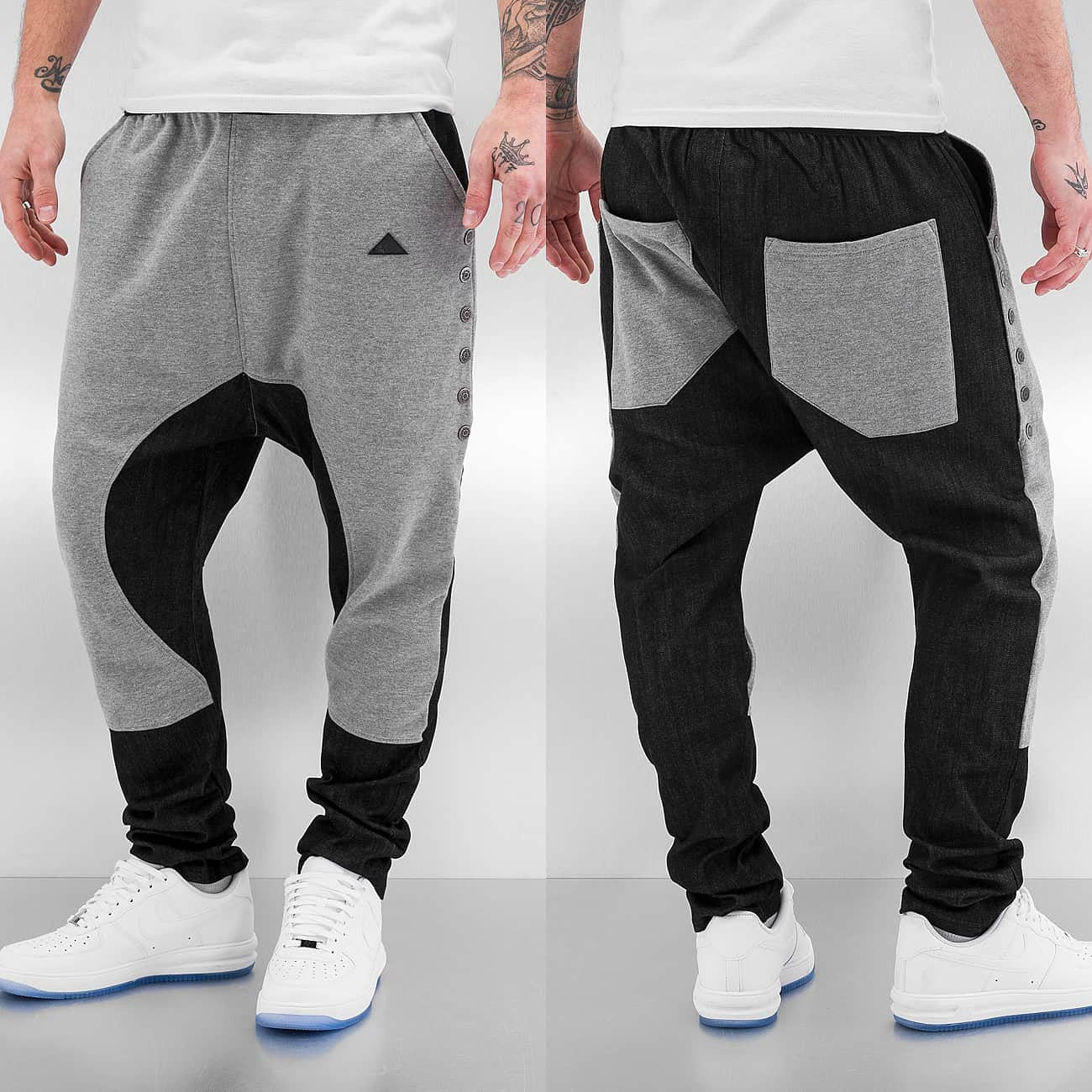 Bangastic Button Sweat Pants  Grey