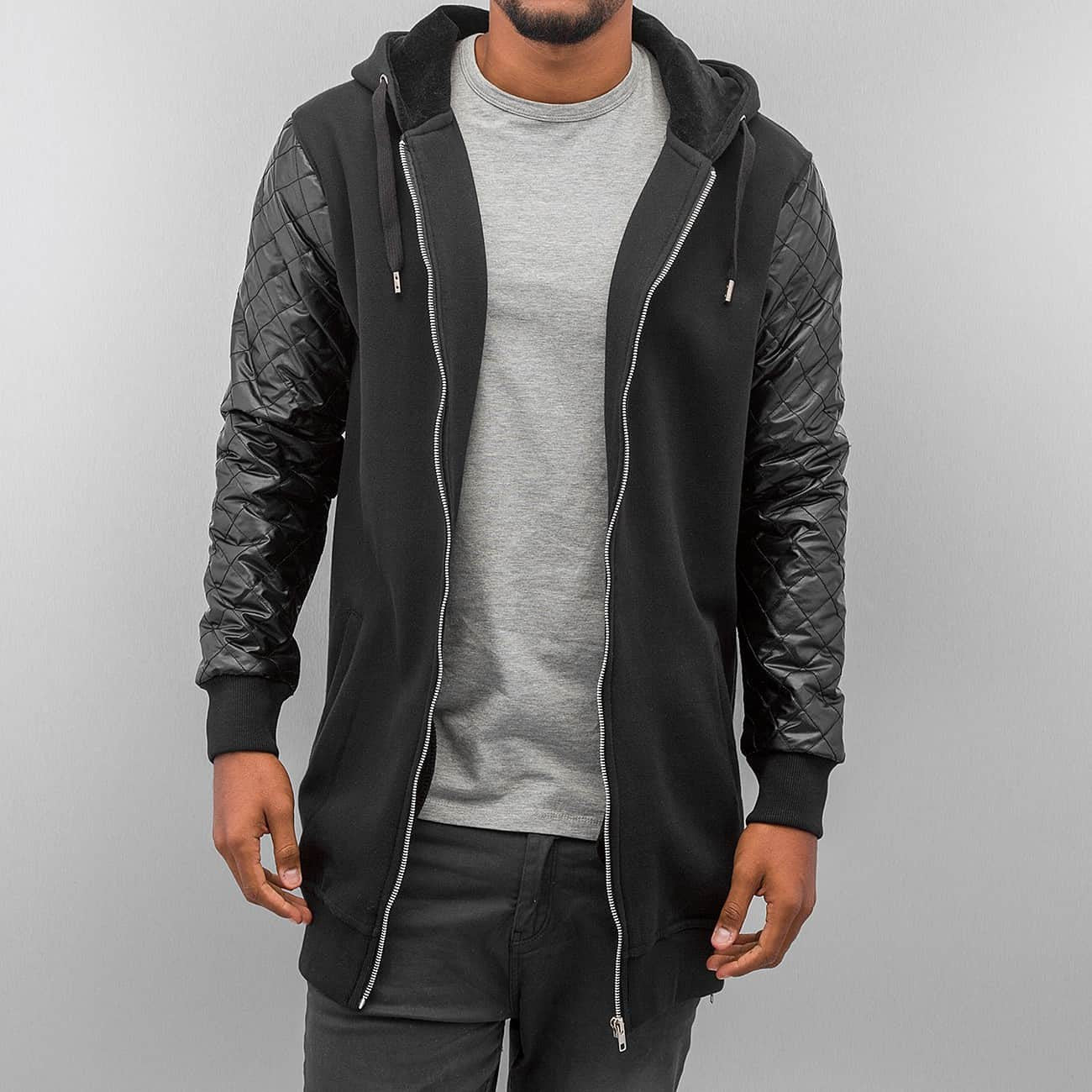 Bangastic Long Zip Hoody  Black
