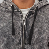 Bangastic Long Zip Hoody  Grey