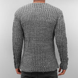 Bangastic PU Knit Sweater  Grey