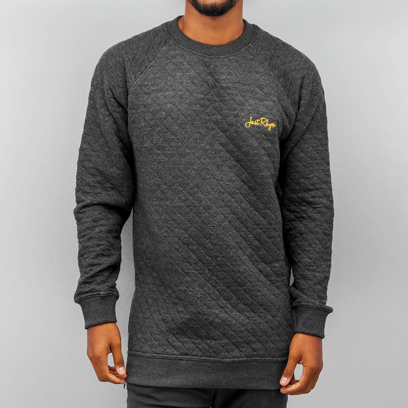 Just Rhyse Quilt Sweatshirt  Black