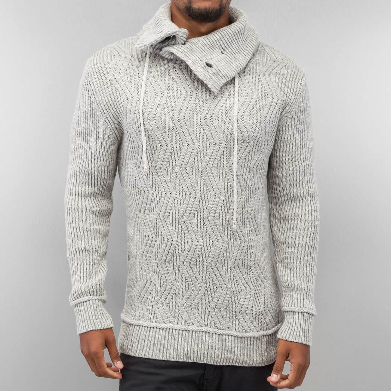 Just Rhyse Knit Sweater  Grey