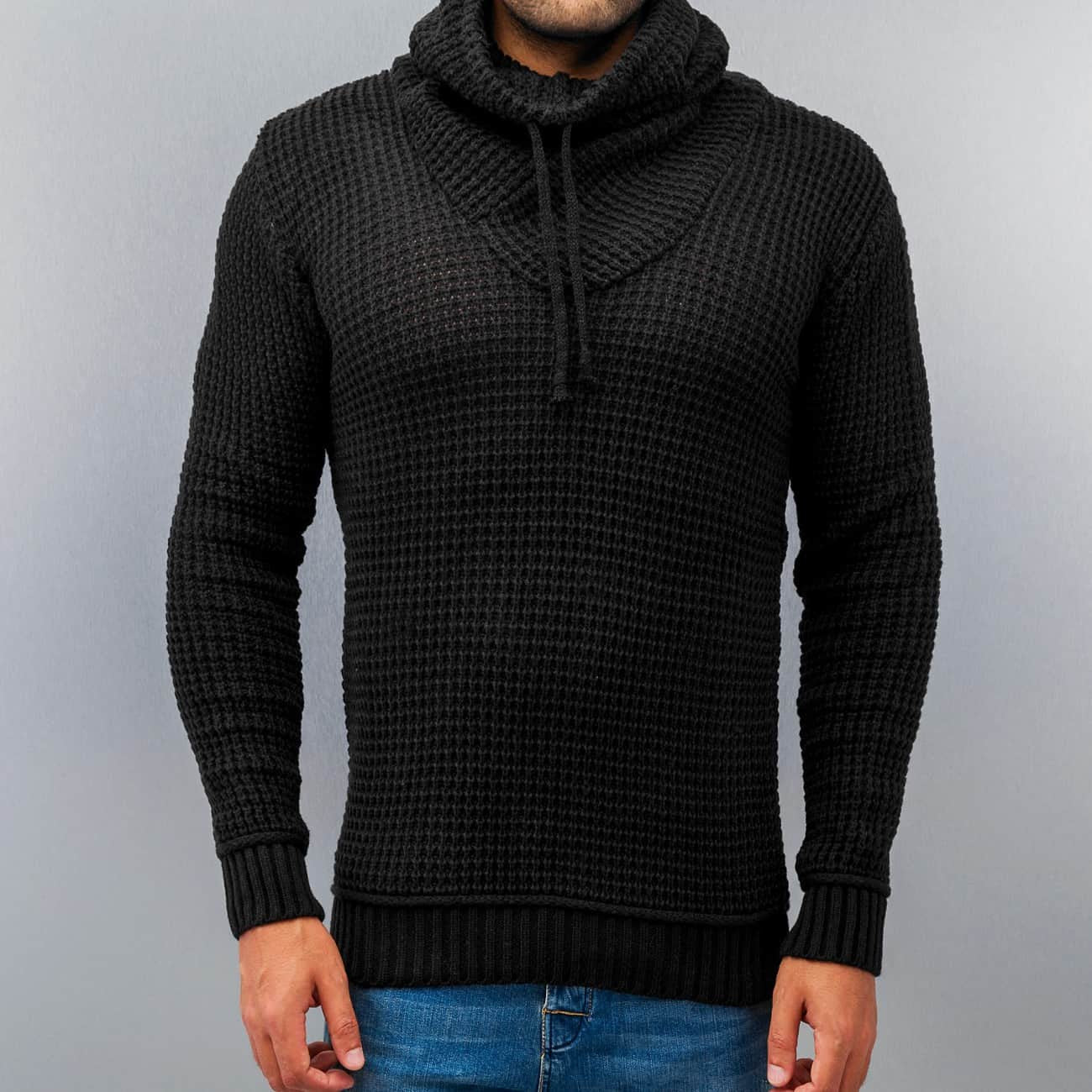 Just Rhyse Rollneck Sweater  Black
