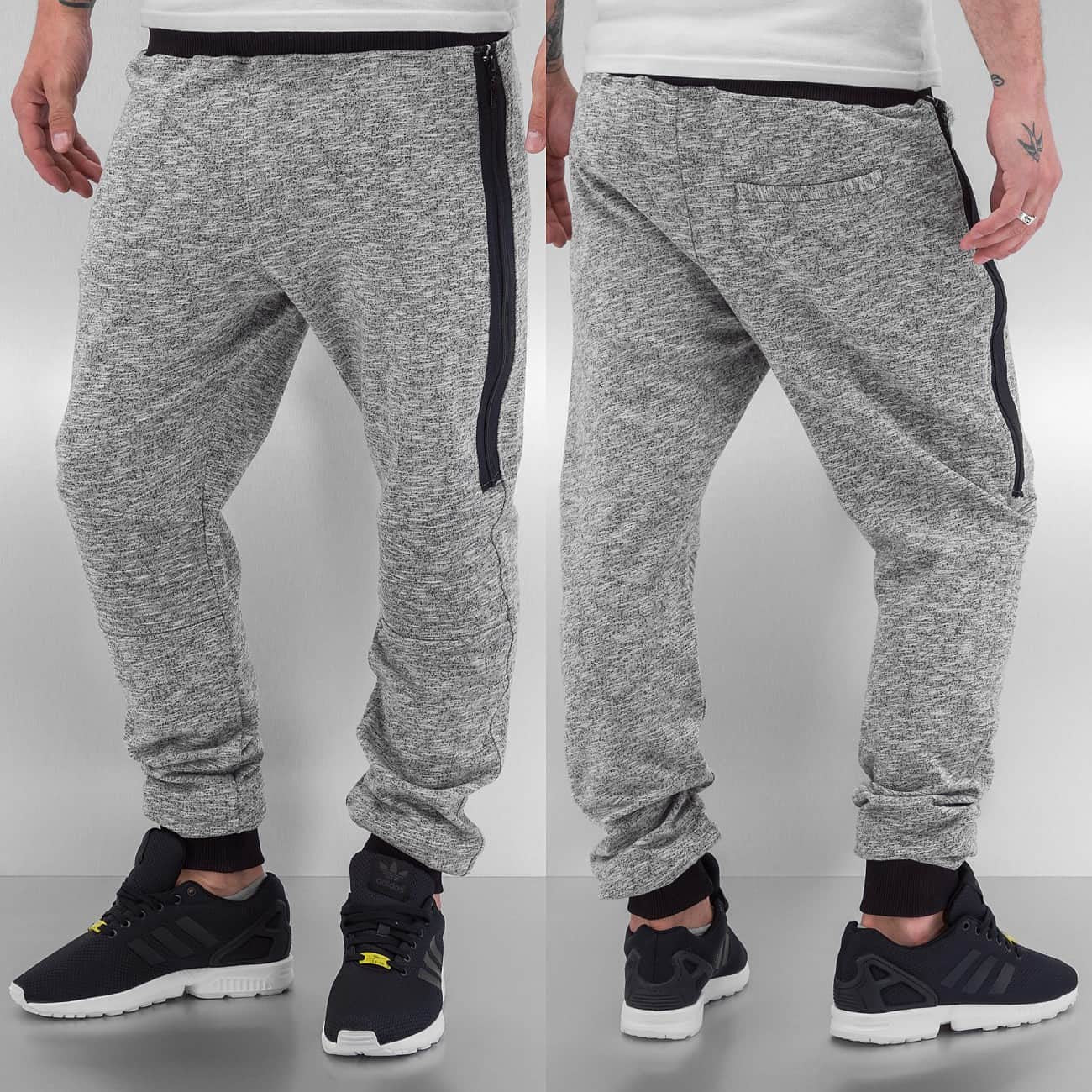 Just Rhyse Melange Sweat Pants  Grey