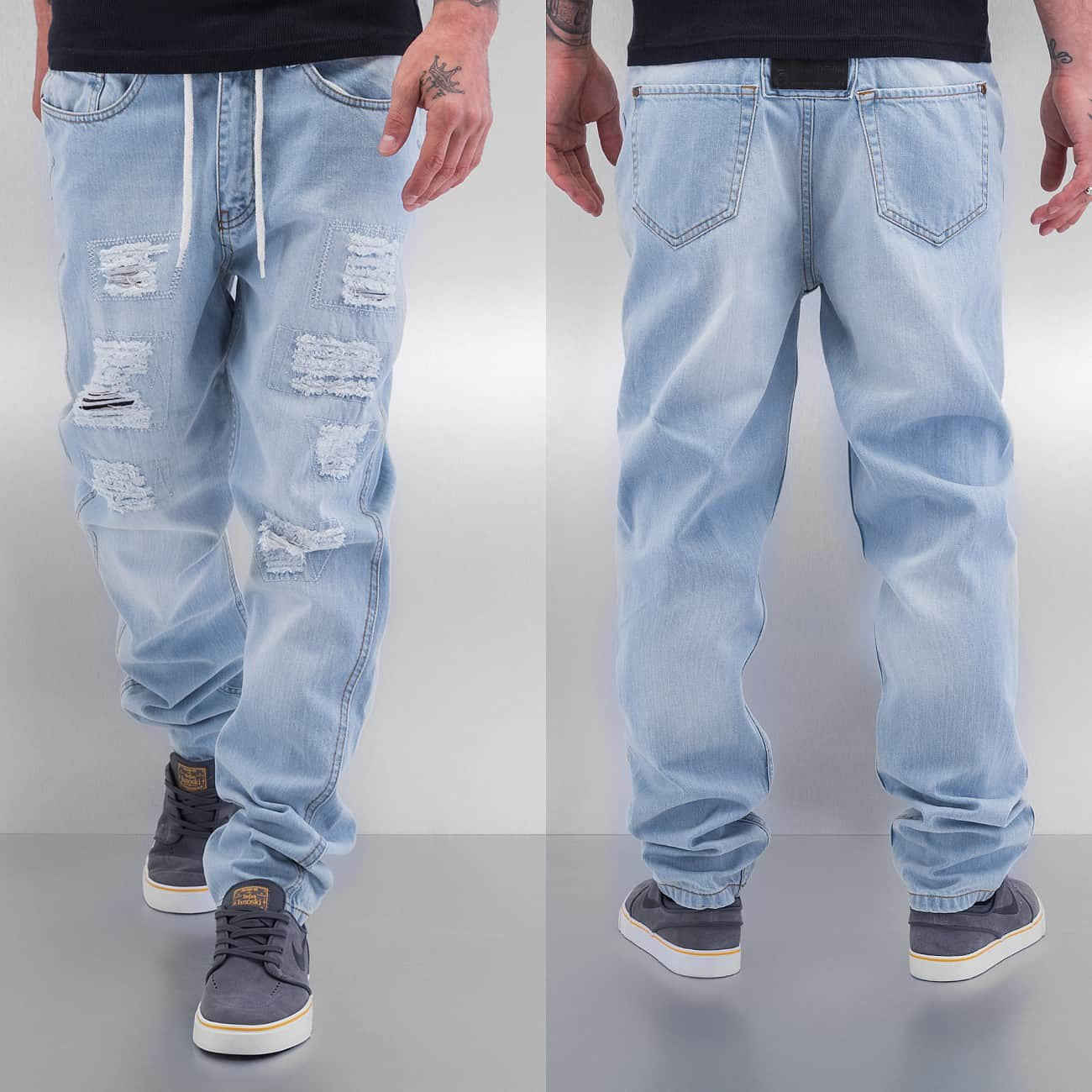 Just Rhyse Drawstring Jeans  Blue
