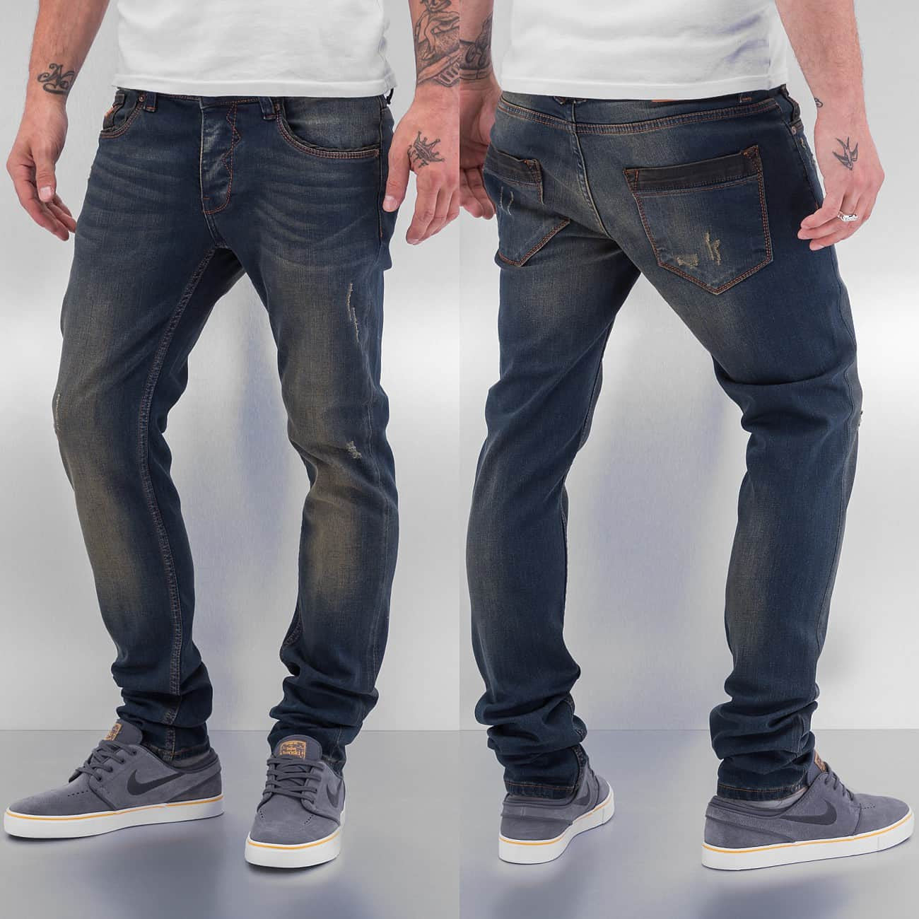 Cazzy Clang Bass Straight Fit Jeans  Blue