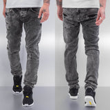 Cazzy Clang Square Straight Fit Jeans  Grey