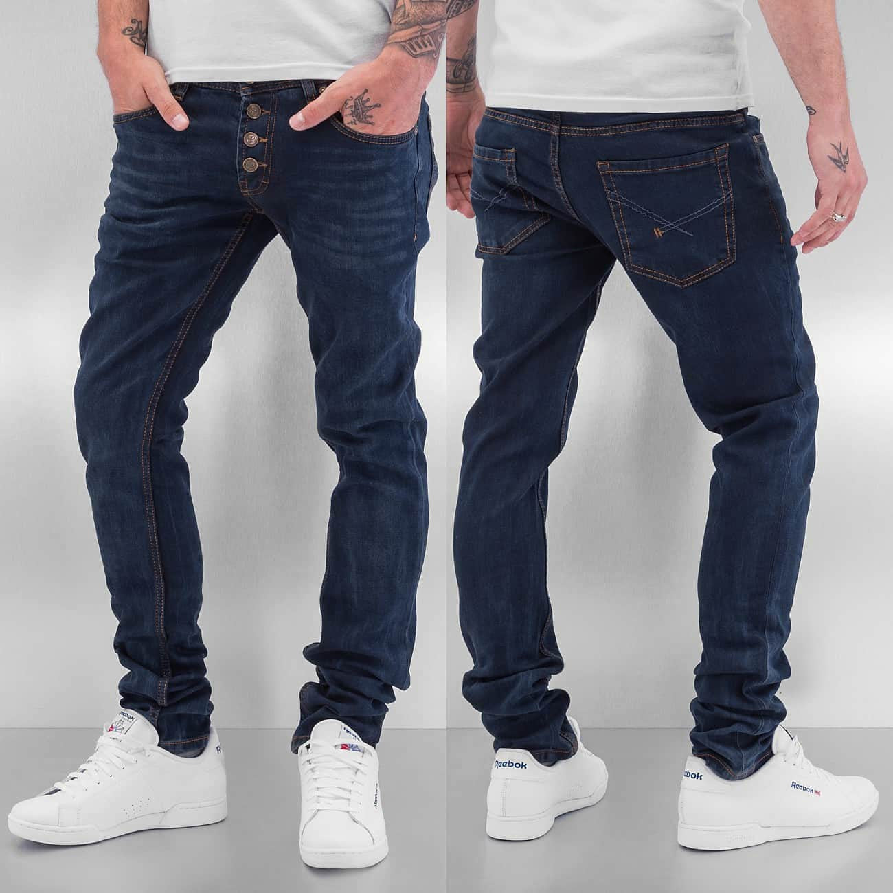 Cazzy Clang 1976 Straight Fit Jeans Dark Blue Blue