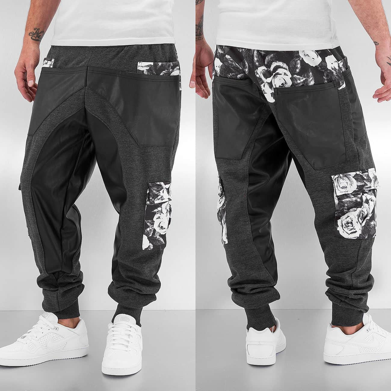 Just Rhyse Rose Sweat Pants  Black